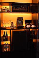 Each villa features a well stocked mini bar.