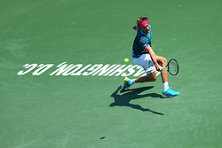 August 5, 2018 - Washington D.C, DC, U.S. - WASHINGTON D.C., DC - AUGUST 05: JAMIE MURRAY (GBR) BRUNO SOARES(BRA) MIKE BRYAN (USA) EDOUARD ROGER-VASSELIN (FRA) during day seven match of the 2018 Citi Open on August 05, 2018 at Rock Creek Park Tennis Center in Washington D.C. (Photo by Chaz Niell/Icon Sportswire) (Credit Image: © Chaz Niell/Icon SMI via ZUMA Press)