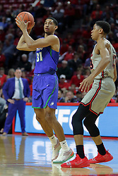 NORMAL, IL - November 06: Dinero Mercurius passes off when he encountersWilliam Tinsley during a college basketball game between the ISU Redbirds  and the Florida Gulf Coast Eagles on November 06 2018 at Redbird Arena in Normal, IL. (Photo by Alan Look)
