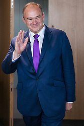 London, UK. 30 May, 2019. Ed Davey, Liberal Democrat MP for Kingston and Surbiton and former Secretary of State for Energy and Climate Change, arrives to make a speech in central London as he launches his campaign for the party leadership following excellent results for the party in the recent European and local elections.