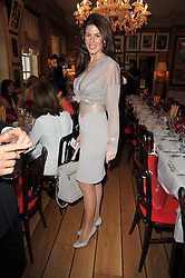 CHRISTINA ESTRADA-JUFFALI  at a lunch hosted by Roger Viver in honour of Bruno Frisoni their creative director, held at Harry's Bar, 26 South Audley Street, London on 31st March 2011.