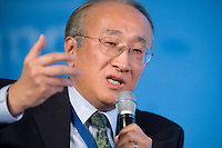 """29 MAY 2008, LEIPZIG/GERMANY: <br /> Nobuo Tanaka, Executive Director IEA, Ministerial-Industry Panel """"Prospects for an energy-efficient, low carbon future for transport"""", International Transport Forum, ITF, Congress """"Transport and Energy - The Challenge of Climate Change"""", Congress Center Leipzig<br /> IMAGE: 20080529-01-088"""