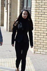Tulisa Contostavlos arrives to give evidence at day two of her assault trial. She is accused of hitting celebrity blogger Savvas Morgan at the V Festival in Chelmsford, Essex, last year. Chelmsford Magistrates' Court, Tuesday, 20th May 2014. Picture by And