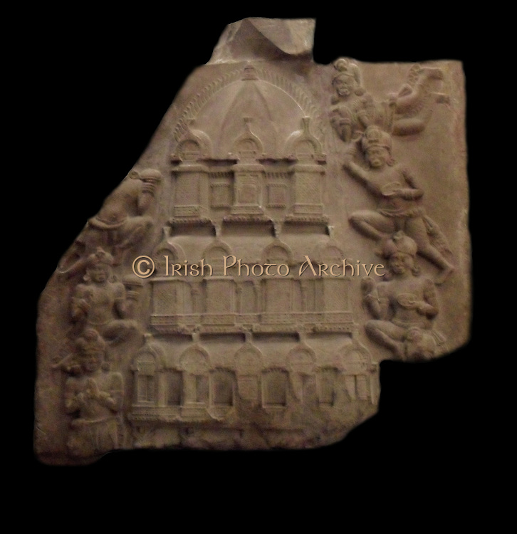 Sanctuary floors. late first century-early 2nd century. Amaravati School (1st century BC - 3rd century AD sculpture from limestone Marmoreal Andhra Pradesh India