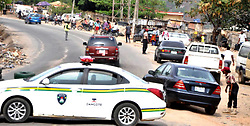 Nigeria- Abuja. 29.04.20 - Policemen and other security personnel assigned to ensure the lockdown order of the federal and state governments in the Federal Capital Territory (FCT) and its environs, work without protective kits against the coronavirus spread.  Some of the security operatives spoken to on Tuesday said they have been exposed to verbal attacks over alleged excesses while enforcing the lockdown order to protect Nigerians from coronavirus while nobody is talking about their safety from the disease.  AFRICAN NEWS AGENCY (ANA)