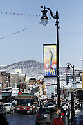 SHOT 3/2/17 10:51:02 AM - Park City, Utah lies east of Salt Lake City in the western state of Utah. Framed by the craggy Wasatch Range, it's bordered by the Deer Valley Resort and the huge Park City Mountain Resort, both known for their ski slopes. Utah Olympic Park, to the north, hosted the 2002 Winter Olympics and is now predominantly a training facility. In town, Main Street is lined with buildings built primarily during a 19th-century silver mining boom that have become numerous restaurants, bars and shops. (Photo by Marc Piscotty / © 2017)