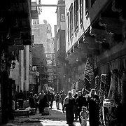 Sidestreet in Cairo's Islamic quarter, Cairo, Egypt (January 2008)