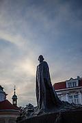 Das Jan Hus Denkmal am Altstaedter Ring.