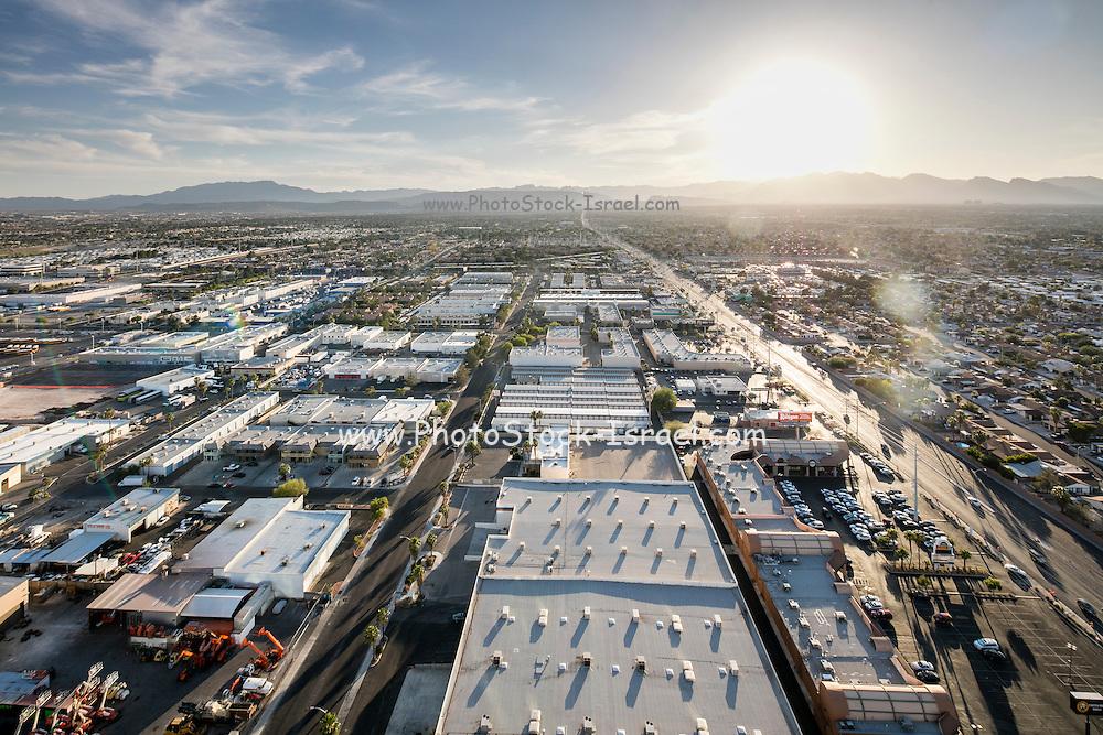 Elevated view of Las Vegas city, Nevada