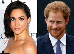 File photos of Meghan Markle and Prince Harry, as Harry is to carry out a host of engagements in Toronto later this month - when he is expected to make his first public appearance with girlfriend Meghan Markle at an official event.