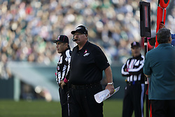 Philadelphia Eagles head coach Andy Reid looks on during the NFL game between the Detroit Lions and the Philadelphia Eagles on Sunday, October 14th 2012 in Philadelphia. The Lions won 26-23 in Overtime. (Photo by Brian Garfinkel)