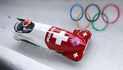 16-02-2014 BOBSLEE: OLYMPIC GAMES: SOTSJI<br /> Beat Hefti and Alex Baumann Bob Switzerland 1 of the Switzerland during Heat 2 of Two-man Bobsleigh of the Olympic Winter Games Sochi 2014 at the Sliding Center Sanki,<br /> ©2014-FotoHoogendoorn.nl
