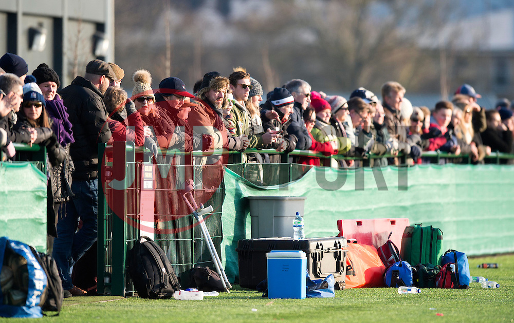 Spectators at SGS Wise Campus for Premiership Academy U18 rugby - Mandatory by-line: Paul Knight/JMP - 21/01/2017 - RUGBY - SGS Wise Campus - Bristol, England - Bristol Academy U18 v Saracens Academy U18 - Premiership Rugby Academy U18 League