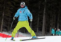 17/12/2010 ALPINE SKI WORLD CUP VAL GARDENA 2010 FIS SKI WELT CUP . Gasper Markic of Slovenia prior to the Audi FIS Alpine Ski World Cup Men's SuperG on December 17, 2010 in Val Gardena, Italy.  © Photo Pierre Teyssot / Sportida.com.