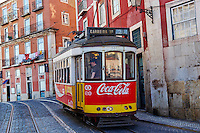 Portugal, Lisbonne, Portugal, quartier de Baixa pombalin, tramway numero 28 // Portugal, Lisbon, tram 28 in Baixa pombalin