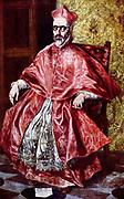 El Greco (1541-1614) Greek painter, Portrait of Don Fernando Nino de Guevara Cardinal inquisitor  1600)
