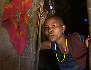 Salida, 19 years old. Datoga herder camp near the Hadza camp of Dedauko.