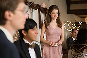 TABLE 19, L-R: TONY REVOLORI, ANNA KENDRICK, 2017. PH: JACE DOWNS/TM & COPYRIGHT © FOX SEARCHLIGHT PICTURES. ALL RIGHTS RESERVED.