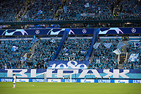SAINT-PETERSBURG, RUSSIA - OCTOBER 20: General view of the Zenit St Petersburg fans during the UEFA Champions League Group F match between Zenit St Petersburg and Club Brugge KV at Gazprom Arena on October 20, 2020 in Saint-Petersburg, Russia (Photo by MB Media]