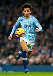 Manchester City's Leroy Sane during the Premier League match at the Etihad Stadium, Manchester.
