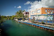 A short canal divides the island of Culebra in half.