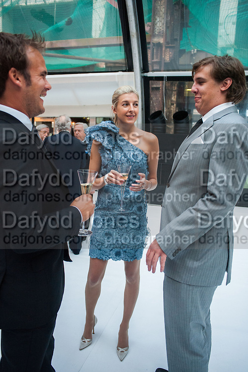 FRANCESCA CIARDI; CAROLINE RUPERT; ANTOINE RUPERT, CARTIER CHELSEA FLOWER SHOW DINNER Dinner hosted by Cartier in celebration of the Chelsea Flower Show was held at Battersea Power Station. 22 May 2012