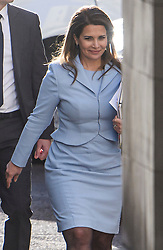 © Licensed to London News Pictures. 11/12/2019. London, UK. PRINCESS HAYA BINT AL HUSSEIN is seen smiling as she arrives at The Family Court devision of the Royal Courts of Justice in London where Sheikh Mohammed bin Rashid Al Maktoum and his wife Princess Haya Bint Al Hussein are currently in legal dispute over custody of their children. Princess Haya Bint Al Hussein has applied for a protection order and is seeking wardship of her children. Photo credit: Ben Cawthra/LNP