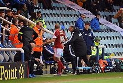 Bristol City's Adam El-Abd receives a red card. - Photo mandatory by-line: Dougie Allward/JMP - Mobile: 07966 386802 11/03/2014 - SPORT - FOOTBALL - Peterborough - London Road Stadium - Peterborough United v Bristol City - Sky Bet League One