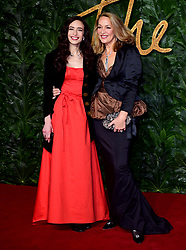 Elizabeth Jagger and Jerry Hall (right) attending the Fashion Awards in association with Swarovski held at the Royal Albert Hall, Kensington Gore, London.
