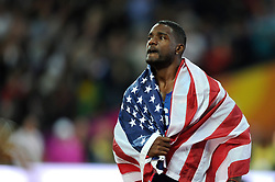 Gold medal winner Justin Gatlin of the USA looks on - Mandatory byline: Patrick Khachfe/JMP - 07966 386802 - 05/08/2017 - ATHLETICS - London Stadium - London, England - Men's 100m Final - IAAF World Championships