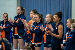 Team NL during the Women's friendly match between Netherlands and Belgium at Sporthal De Basis on may 19, 2021 in Sliedrecht, Netherlands (Photo by RHF Agency/Ronald Hoogendoorn)