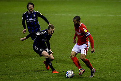 Lewis Grabban of Nottingham Forest takes on George Saville of Middlesbrough - Mandatory by-line: Robbie Stephenson/JMP - 20/01/2021 - FOOTBALL - City Ground - Nottingham, England - Nottingham Forest v Middlesbrough - Sky Bet Championship