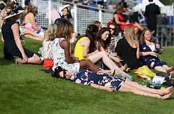 Racegoers enjoy the day on Derby Day of the 2017 Investec Epsom Derby Festival at Epsom Racecourse, Epsom.