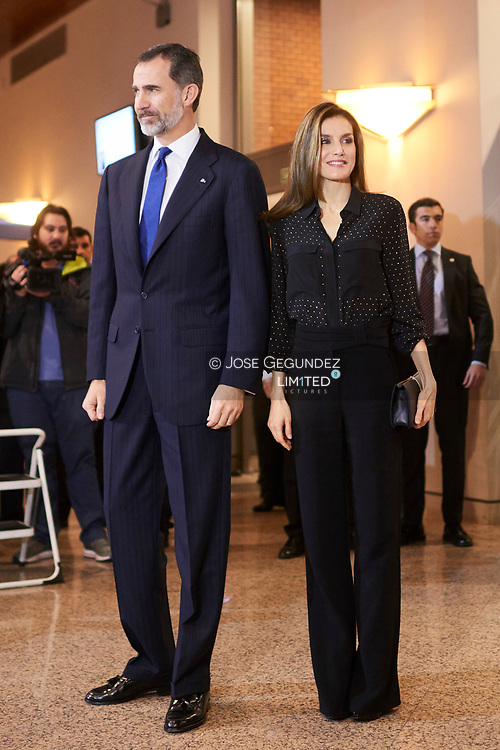 King Felipe VI of Spain, Queen Letizia of Spain attend a Tribute Concert for Terrorism Victims at the National Auditorium on March 8, 2017 in Madrid, Spain