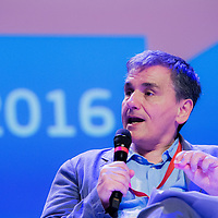 Brussels, Belgium, 9 June 2016<br /> Brussels Economic Forum 2016.<br /> Euclid Tsakalotos, Greek Minister of Finance.<br /> The Brussels Economic Forum (BEF) is the flagship annual economic event of the European Commission.<br /> The BEF brings together top European and international policymakers and opinion leaders as well as civil society and business leaders. It is the place to take stock of economic developments, identify key challenges and debate policy priorities.<br /> Photo: European Commission / Ezequiel Scagnetti