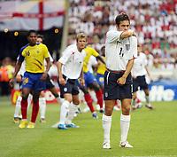 Photo: Chris Ratcliffe.<br /> England v Ecuador. 2nd Round, FIFA World Cup 2006. 25/06/2006.<br /> Joe Cole of England.