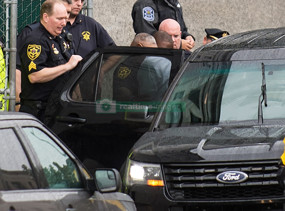 Bill Cosby is being taking in shackles after being sentenced to 3 to 10 years in state prison for his sexual assault conviction during sentencing day at Montgomery County Courthouse in Norristown, PA. 25 Sep 2018 Pictured: Bill Cosby. Photo credit: MEGA TheMegaAgency.com +1 888 505 6342