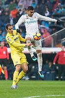 Real Madrid Carlos Henrique Casemiro during La Liga match between Real Madrid and Villarreal CF at Santiago Bernabeu in Madrid, Spain. January 13, 2018. (ALTERPHOTOS/Borja B.Hojas)