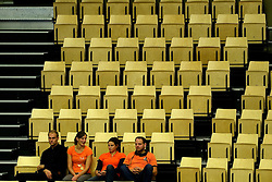 21-09-2013 VOLLEYBAL: EK MANNEN SLOVENIE - FINLAND: HERNING<br /> Support voor Nederland publiek Oranje<br /> ©2013-FotoHoogendoorn.nl<br />  / SPORTIDA