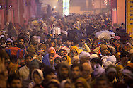 Millions flock through the narrow streets of Allahabad, India to take a holy dip in the Ganges river during the Kumbh Mela. Kumbh mela