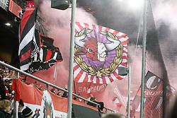15.03.2018, Red Bull Arena, Salzburg, AUT, UEFA EL, FC Salzburg vs Borussia Dortmund, Achtelfinale, Rueckspiel, im Bild Fansektor FC Salzburg // during the UEFA Europa League Round of 16, 2nd Leg Match between FC Salzburg and Borussia Dortmund at the Red Bull Arena in Salzburg, Austria on 2018/03/15. EXPA Pictures © 2018, PhotoCredit: EXPA/ Roland Hackl