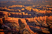 Aerial view of the Needles District of the Canyonlands National Park, Utah.
