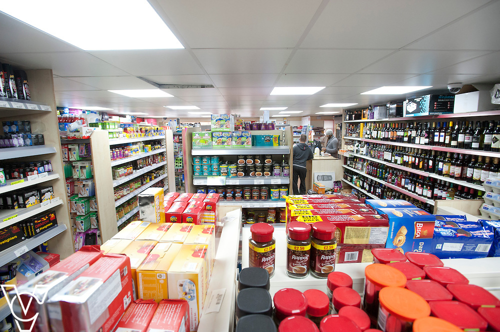Pictured is the inside of Thringstone Post Office<br /> <br /> Thringstone Post Office, 19-23 Loughborough Road, Thringstone, Leicestershire.<br /> Date: January 23, 2015