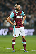 Andy Carroll of West Ham United looking on. Premier league match, West Ham Utd v Hull city at the London Stadium, Queen Elizabeth Olympic Park in London on Saturday 17th December 2016.<br /> pic by John Patrick Fletcher, Andrew Orchard sports photography.