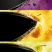 Strongbow fruit Cider, Dark Fruits, Apple and Pear flavours. Ray Massey is an established, award winning, UK professional  photographer, shooting creative advertising and editorial images from his stunning studio in a converted church in Camden Town, London NW1. Ray Massey specialises in drinks and liquids, still life and hands, product, gymnastics, special effects (sfx) and location photography. He is particularly known for dynamic high speed action shots of pours, bubbles, splashes and explosions in beers, champagnes, sodas, cocktails and beverages of all descriptions, as well as perfumes, paint, ink, water – even ice! Ray Massey works throughout the world with advertising agencies, designers, design groups, PR companies and directly with clients. He regularly manages the entire creative process, including post-production composition, manipulation and retouching, working with his team of retouchers to produce final images ready for publication.