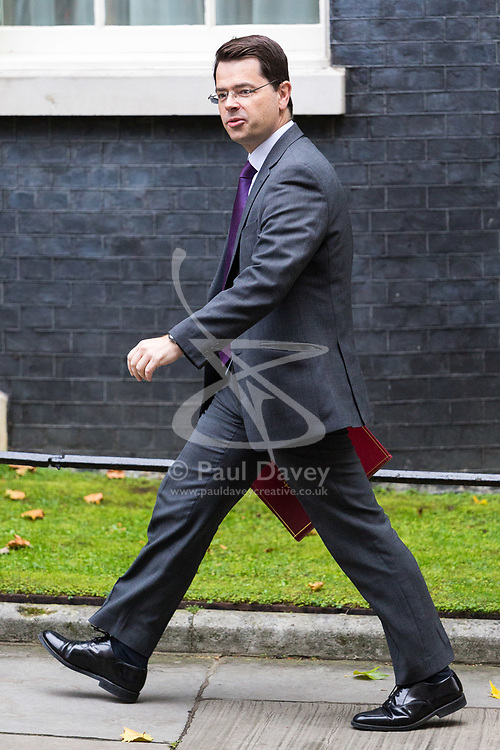London, October 10 2017. Northern Ireland Secretary James Brokenshire attends the UK cabinet meeting at Downing Street. © Paul Davey