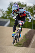 #815 (CLERTE Eddy) FRA during practice at Round 3 of the 2019 UCI BMX Supercross World Cup in Papendal, The Netherlands