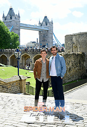 Tom Holland and Jake Gyllenhaal attending the Spider-Man: Far From Home Photocall held at the Tower of London.