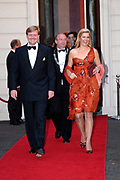 Prince Willem Alexander and maxima are in The Hague at the Royal Thaetre for the king Willem 1 price.<br /> <br /> Prins Willem Alexander en Maxima zijn in Den Haag in de Koninklijke Schouburg aanwezig bij de uitreiking van de Koning Willem 1 Prijs, de nationale ondernemingsprijs.<br /> <br /> On the photo / Op de foto:<br />  Willem Alexander en Maxima