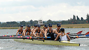 Eton, GREAT BRITAIN, USA W8+, Bow Brett SICKLER. Megan COOKE, Anna GOODALE, Lindsay SHOOP, Anna MICKELSON, Susann FRANCIA, Caroline LIND, Caryn DAVIES and Cox Mary WHIPPLE, move away from the start pontoon at the 2006 World Rowing Championships, 21/08/2006.  Photo  Peter Spurrier, © Intersport Images,  Tel +44 [0] 7973 819 551,  email images@intersport-images.com , Rowing Courses, Dorney Lake, Eton. ENGLAND